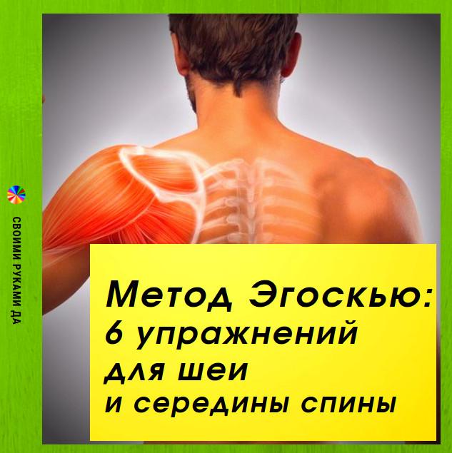 Метод Эгоскью: 6 упражнений для шеи и середины спины. Здоровье и красота в домашних условиях.