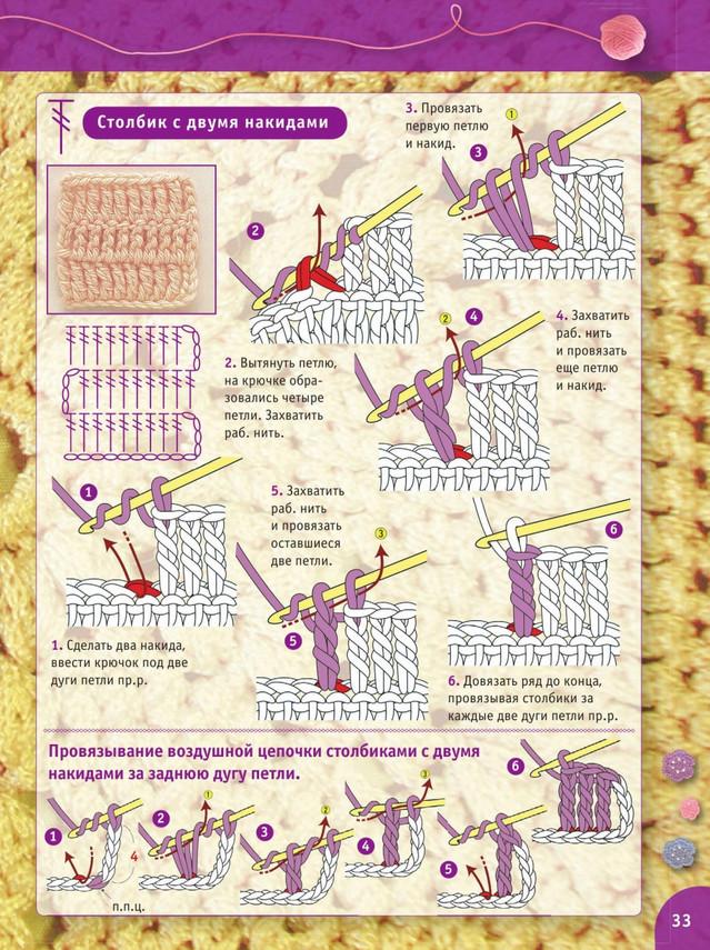 Пошаговый самоучитель вязания крючком. Урок 3