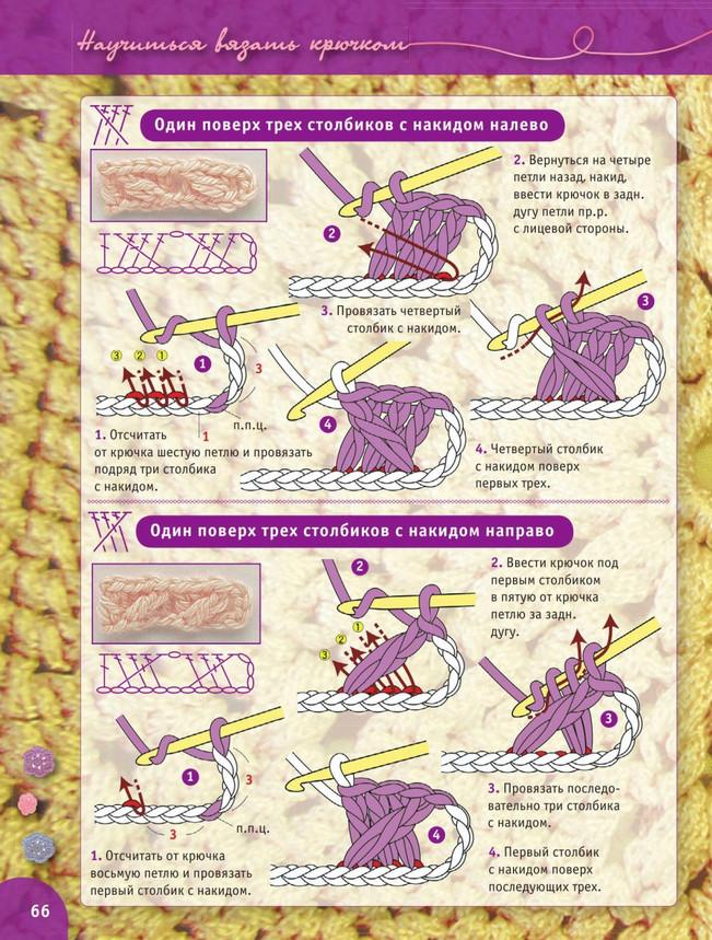 Вязание крючком для начинающих + пошаговый самоучитель. Урок 20