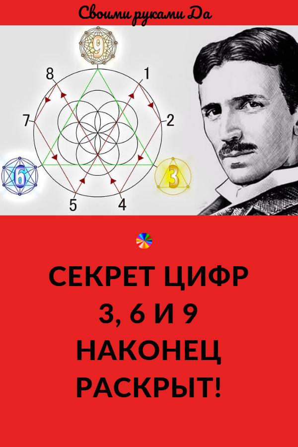 Тесла утверждал, что эти цифры были чрезвычайно важны. Но никто не слушал. Он даже вычислил узловые точки вокруг планеты, связанные с цифрами 3, 6 и 9. Но почему эти цифры?