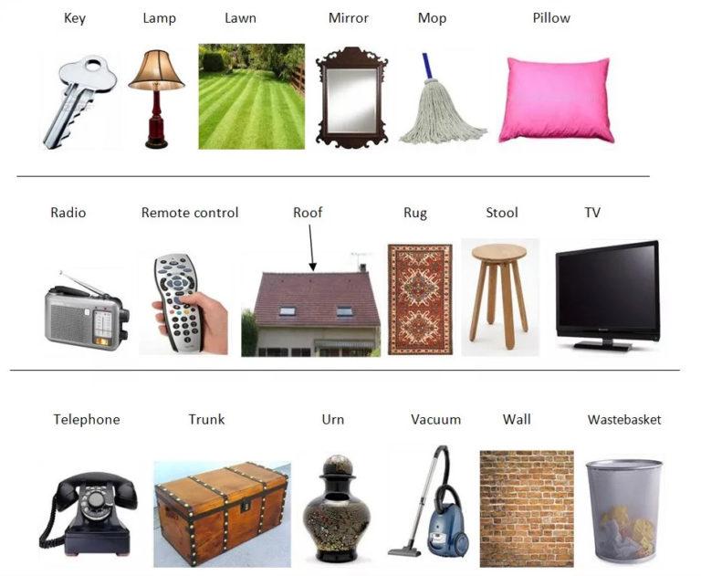 картинки для английского предметы дома вступать дискуссию
