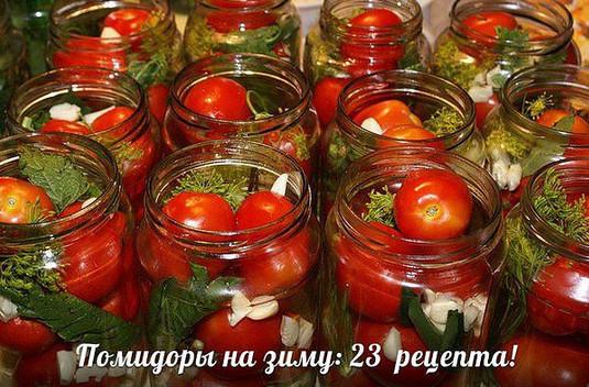 Помидоры на зиму: 23 рецепта