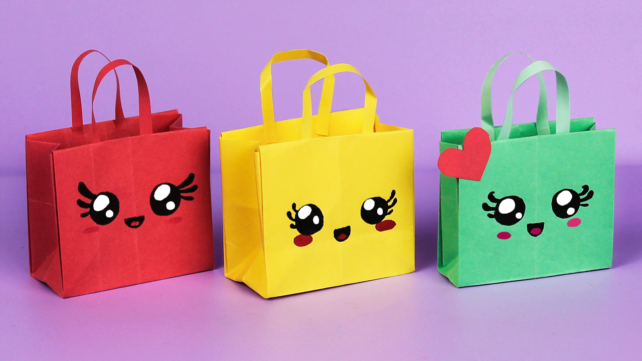 How To Make Paper Bags with Handles