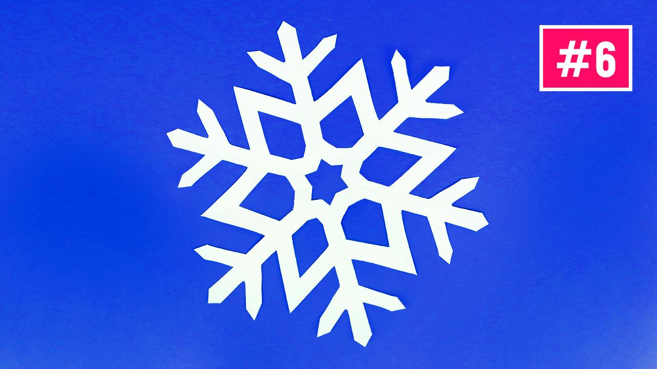 Как сделать снежинку, снежинки из бумаги #6 / How to make easy paper snowflakes / Paper Snowflake