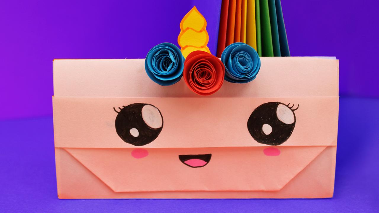Кошелек из бумаги / Оригами для начинающих / Как сделать сумочку кошелек из бумаги своими руками