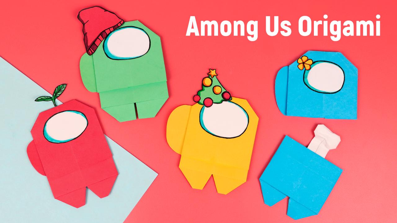 Оригами Among Us из бумаги / Оригами для начинающих / Как сделать Амонг Ас из бумаги своими руками