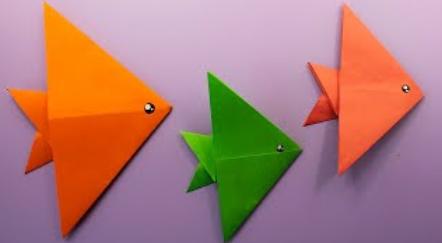 🐟 Diy🐟 ОРИГАМИ РЫБКА из бумаги / Как сделать рыбку своими руками / Простые и Легкие поделки в школу