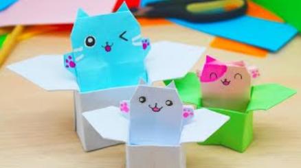 🍒DIY🍒ПОДАРОК🍒КОРОБОЧКА оригами С КОТИКОМ бумаги / Как сделать коробочку СЮРПРИЗ своими руками