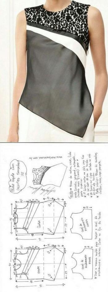 Выкройки модных блузок на любой вкус!