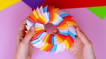 🔹Радужная бумажная игрушка Антистресс трансформер🔹Поделки из бумаги🔹Оригами без клея своими руками